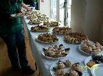 Buffet in Myddfai Hall